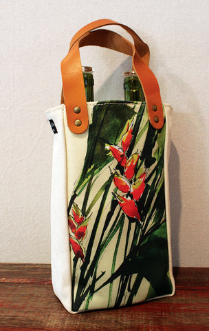 Housemade Heliconia Double Wine Tote