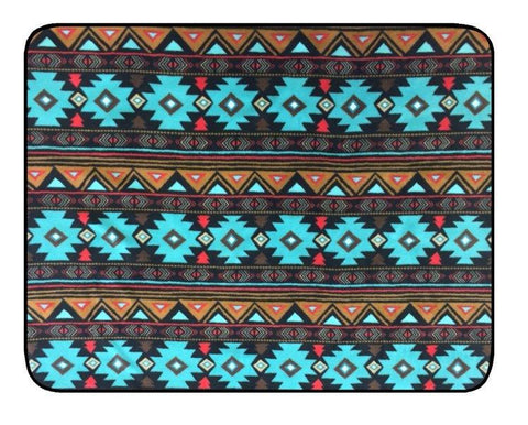 Peace Stripe Turquoise Throw