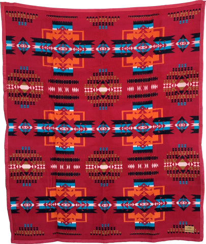 Boy Chief Blanket – Ochre Red