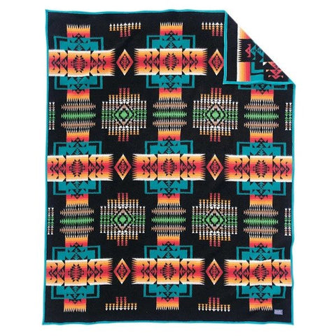 Chief Joseph Robe Blanket - Black