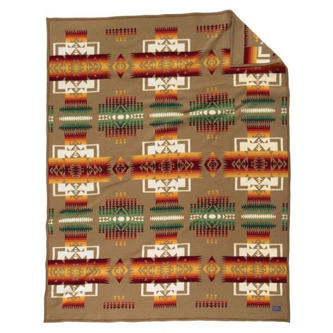 Chief Joseph Robe Blanket - Khaki
