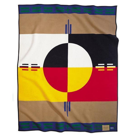 Elders Circle of Life Robe Blanket - Khaki