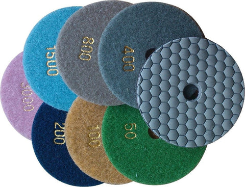 Dry Polishing Pads - Honey Comb Style - Star Diamond Tools Inc. - 1