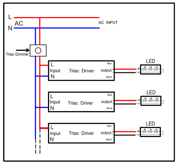 100W TRIAC Dimmable Driver Wiring Diagram