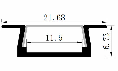 Dimensions of LED Light Bar