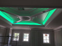 COLOR CHANGING LED STRIPS IN CEILING