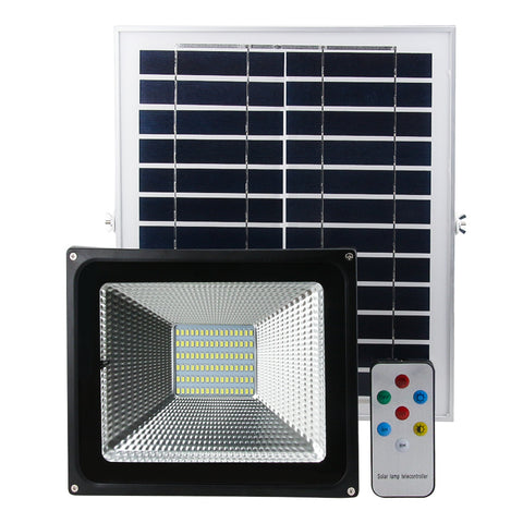 NovaBright NB-SFL-50W Solar LED Flood Light Kit 50W Photocell 12HR