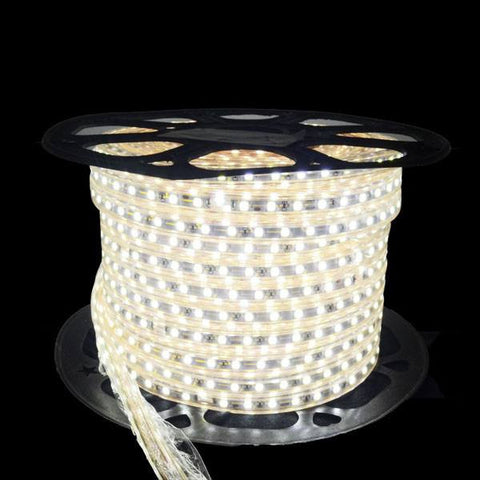 110V LED Light Strips - NovaBright  5050 Super Bright White 300 LED 110V 160ft Reel