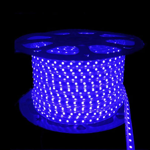 110V LED Light Strips - NovaBright 5050SMD Super Bright Blue 300 LED 110V 160ft Reel