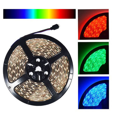 12V LED Strip Lights ~ 12V RGB LED Light Strips ~ 5050 RGB ~ 5050 RGB LED Kit;12V Accent Lighting;Exhibit & Trade Show Lights - 5050SMD Nova Bright Color Changing RGB Super Bright LED Strip Light 16 Ft Reel 300 LEDs Kit