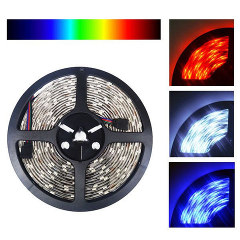 12V LED Strip Lights ~ 12V RGB LED Light Strips ~ 5054 RGB ~ 5054 RGB Kit - 5054SMD Nova Bright Color Changing RGB Bright LED Strip Light 16 Ft Reel Kit