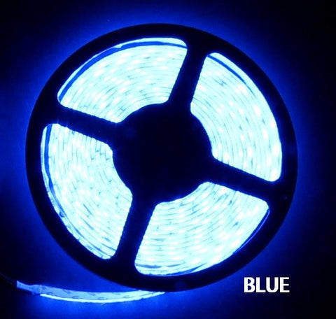 12V LED Strip Lights ~ 12V Single Color Light Strips ~ 3528SMD Single Color ~ 3528 Single Color LED Kit - NovaBright 3528SMD  Blue Super Bright Flexible LED Light  Strip 16 Ft Reel Kit