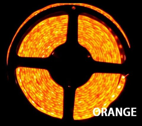 12V LED Strip Lights ~ 12V Single Color Light Strips ~ 5050SMD Single Color ~ 5050 Single Color LED Reel Only - NovaBright 5050SMD Orange Super Bright Flexible LED Light  Strip 16 Ft Reel Only