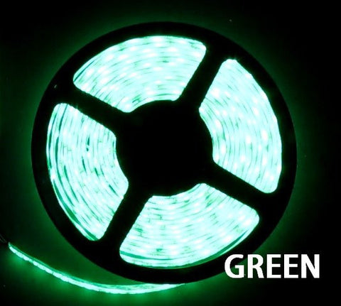 12V LED Strip Lights ~ 12V Single Color Light Strips ~ 5054SMD Single Color ~ 5054 Single Color LED Kit - NovaBright 5054SMD Green Super Bright Flexible LED Light  Strip 16 Ft Reel Kit