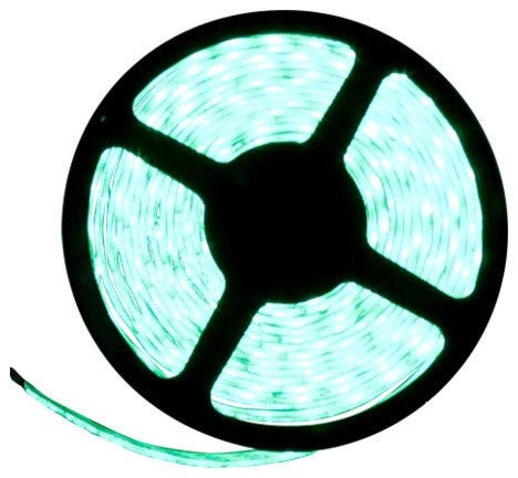 12V LED Strip Lights ~ 12V Single Color Light Strips ~ 5054SMD Single Color ~ 5054 Single Color Reel Only - 5054SMD NovaBright Green Super Bright Flexible LED Light  Strip 16 Ft Reel Only