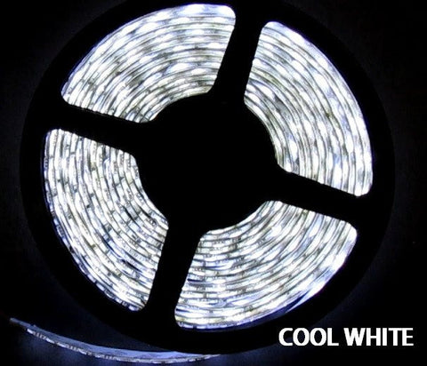 12V LED Strip Lights ~ 12V White LED Light Strips ~ White (Cool);12V LED Strip Lights ~ 12V Single Color Light Strips ~ 5050SMD Single Color ~ 5050 Single Color LED Reel Only - NovaBright 5050SMD Cool White Flexible LED Light  Strip 16 Ft Reel Only