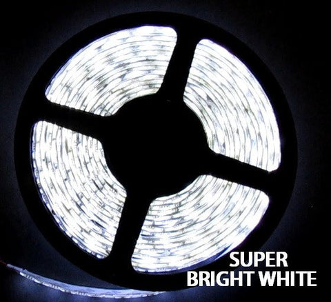12V LED Strip Lights ~ 12V White LED Light Strips ~ White (Daylight) - NovaBright Superbright Daylight White 5054SMD Flexible LED Light Strip 16ft
