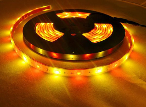 12V LED Strip Lights - Red And Gold LED Strip Light 12V 5050SMD IP68 Waterproof 16.4 FT Reel