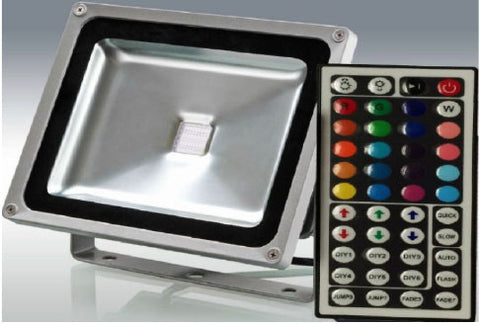 Color Changing RGB Flood Light 50W IP65 with IR 44 Key Remote
