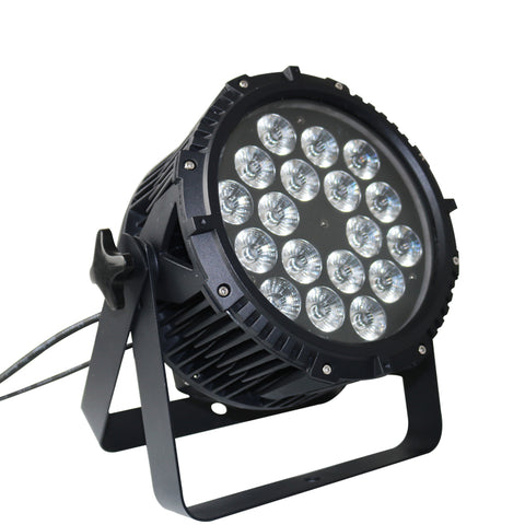 18x18W RGB TriColor 3in1 LED IP65 Outdoor Professional LED Stage Light Waterproof Die Cast Aluminum Body