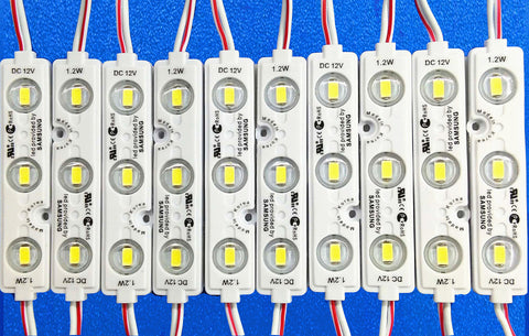 NovaBright Torch 12V 5730SMD LED Module UL White 6000K Samsung Chip 55LM Sign Light 5730S3-6000K