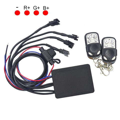 NovaBright NB-KS-008C High Powered 18 Color Change RGB Modes Remote Control Unit 4 Wire Output Braking Warning Function For 12VDC