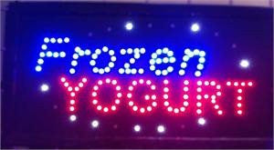 LED Signs - Frozen Yogurt LED Business Sign 19x10 Inches QC-993