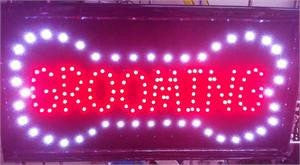 LED Signs - Grooming LED Business Sign 19x10 Inches QC-992