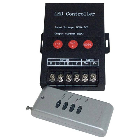 LED Strip Accessories ~ RGB LED Strip Accessories ~ RGB Controllers;RGB Strip Controllers - 30 Amp RF RGB LED Strip Controller 30A RF4T2