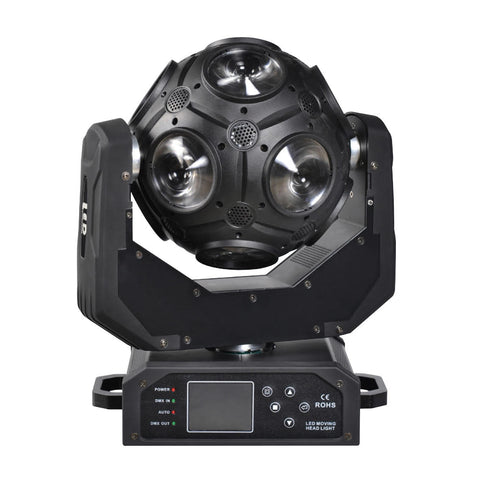 NovaBright NB-300WMH LED Moving Head Ball 300 Watt 12pcs CREE RGBW 4in1 DMX Wash Beam  21 Channel 40 Degree