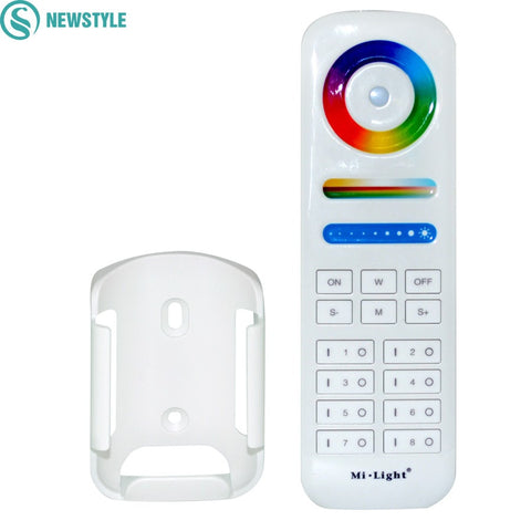Wireless LED Controller 8-Zone Area Milight 2.4G RF RGB+CCT Smart Touch Remote Control For LED Strip Light Bulbs Downlights