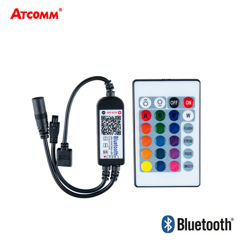 ICE LED RGB-BT Bluetooth Dimmer With 24Key IR Remote Controller Android iOS 5V-24V
