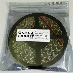 UL Approved Strips;Exhibit & Trade Show Lights - NovaBright 12V UL Approved 5050SMD LED Strip Light Warm White 3000K IP65