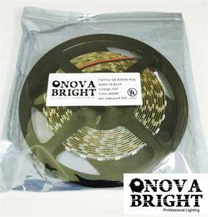 UL Approved Strips;Exhibit & Trade Show Lights - NovaBright 12V UL Approved 5050SMD LED Strip Light White 6000K IP20 Kit
