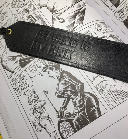 Reading is my Kink Leather Bookmark