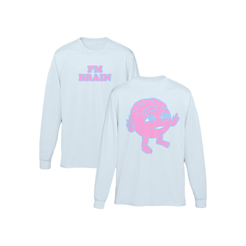 I'm Brain Light Blue Longsleeve