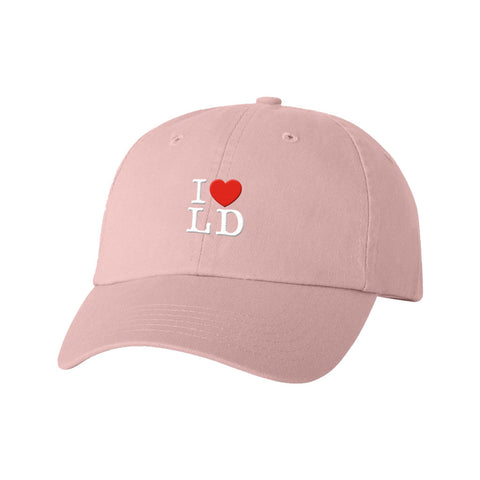 I Heart LD Pink Dad Hat