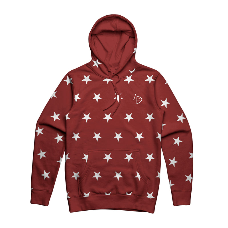Freaky Friday Star Hoodie Burgundy