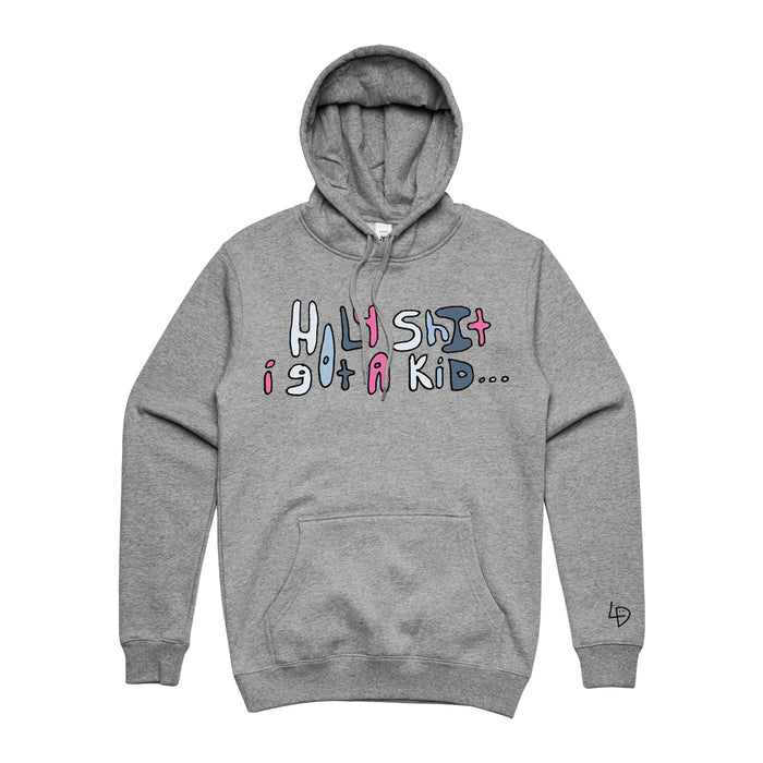 Holy Shit Hoodie Heather Grey
