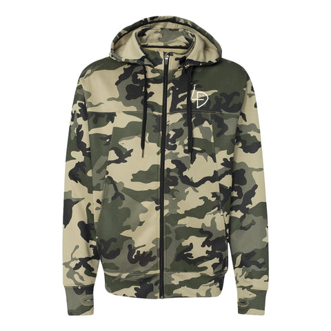Signature Camo Zip Up