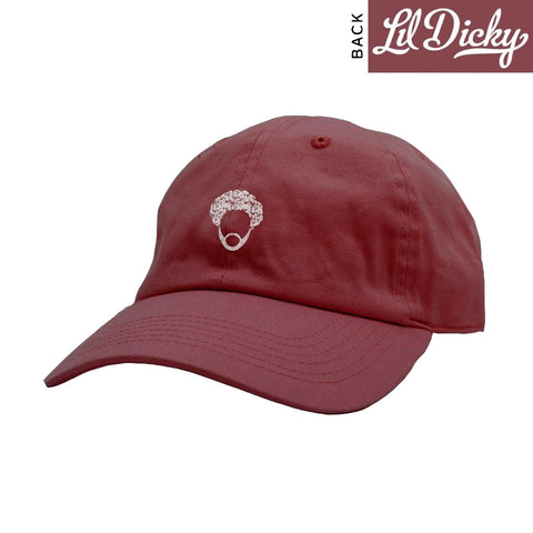 Burgundy Fro Dad Hat