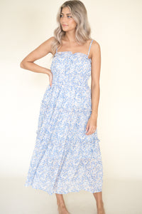 Itzel Gingham Puff Sleeve Maxi Dress