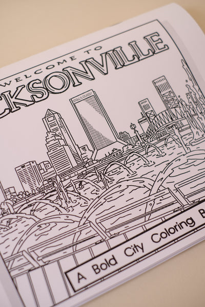 Welcome to Jacksonville: A Bold City Coloring Book + Colored Pencil Set