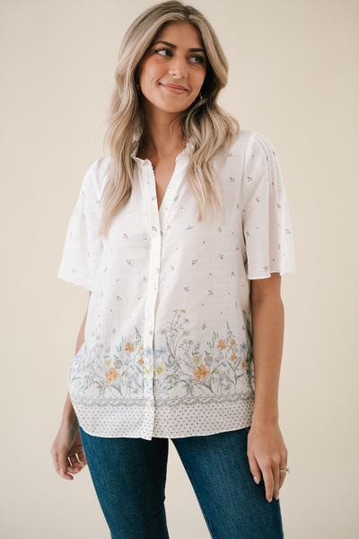Geneva Vintage Floral Gathered Dress