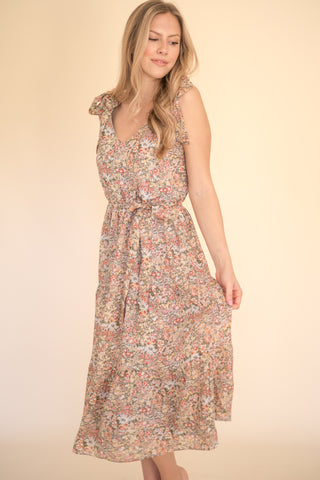 Vivian Garden Party Tiered Midi Dress