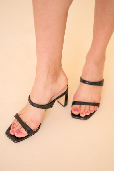 Yanti Soft Strapped Black Heels
