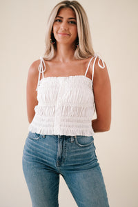 Winnie Cropped Linen Pants (Olive)