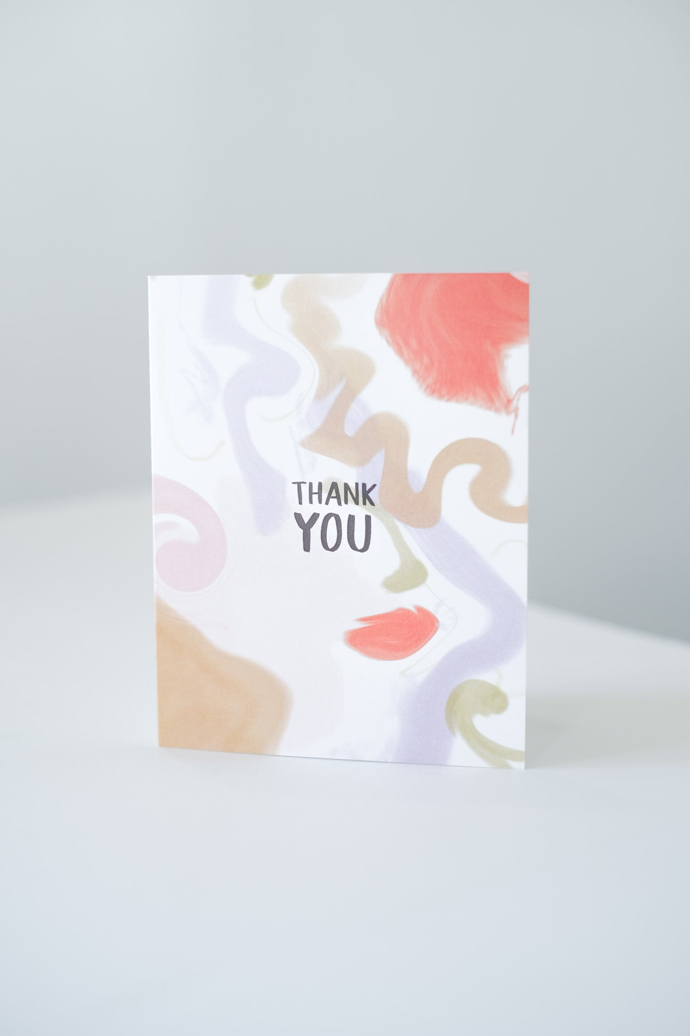 """Thank You"" Watercolor Blank Card"