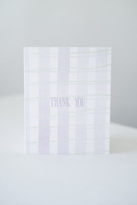 """Thank You"" Grid Blank Card"