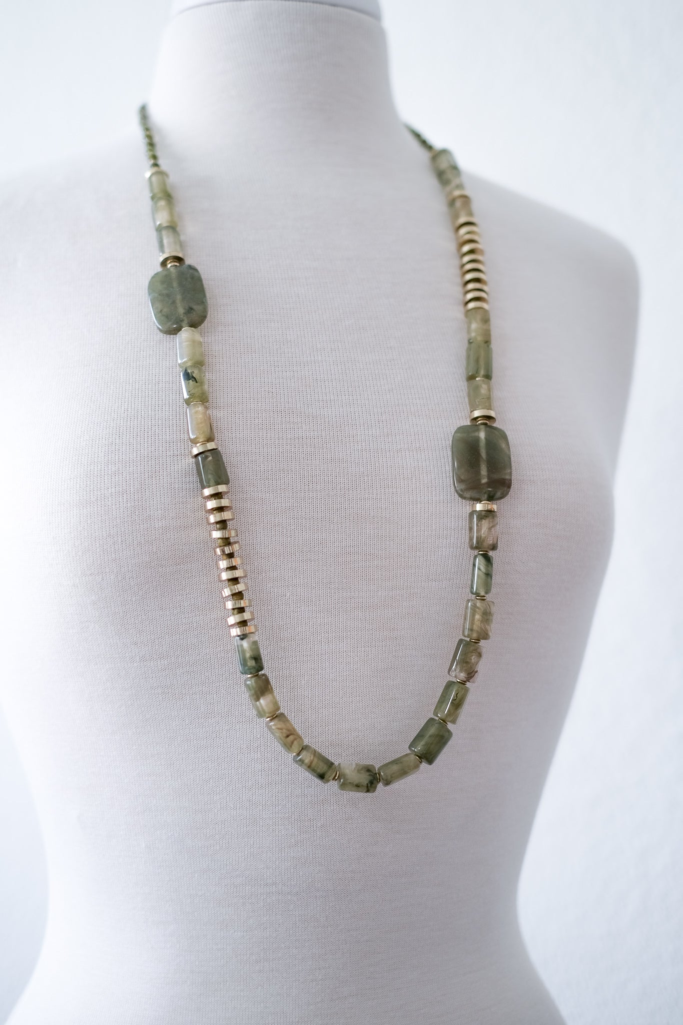 Lily Pad Beaded Necklace